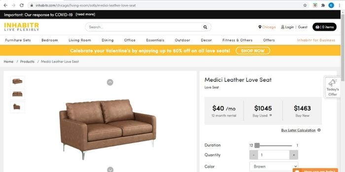 Inhabitr_Loveseat Offers