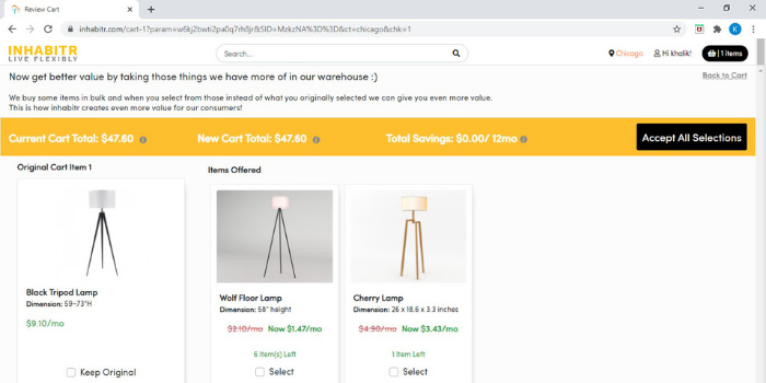 Inhabitr_AI Assisted Furniture Shopping