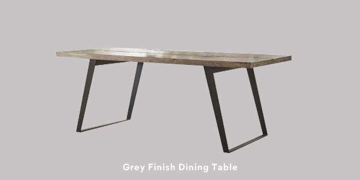 Inhabitr_Grey Finish Dining Table