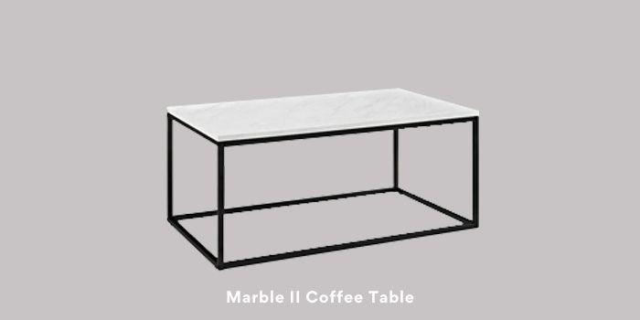 Inhabitr_Marble II Coffee table